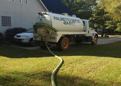 Septic Truck pumping septic tank