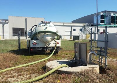 Commercial Septic Tank being pumped